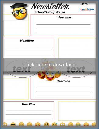 Secondary School Emoji Newsletter Template