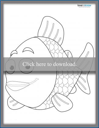 Rainbow Fish Template 1
