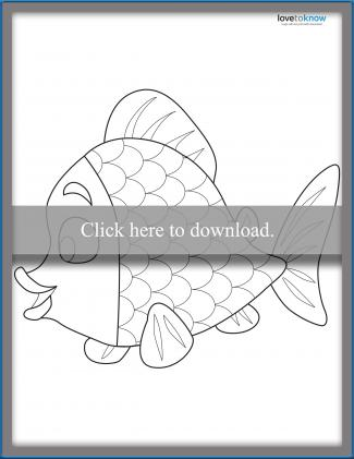 Rainbow Fish Template 2