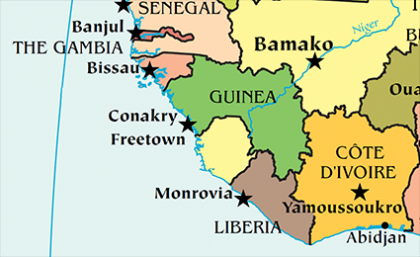 Africa Map Quiz LoveToKnow - Guinea bissau map quiz