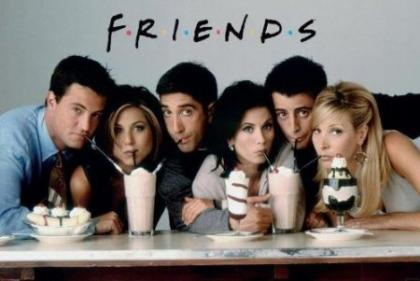 Cast of Friends milkshake poster