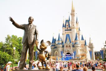 Disney Castle in magic kingdom