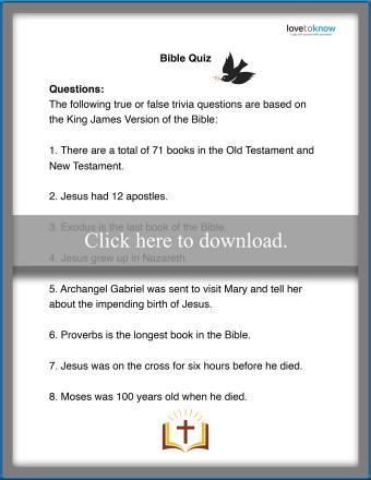 True or False Bible Quiz