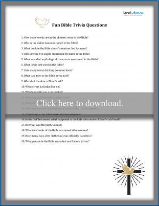 Hard Bible Trivia