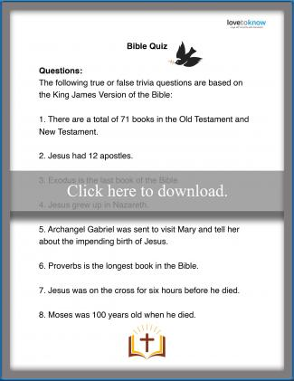 True or False Bible Quiz