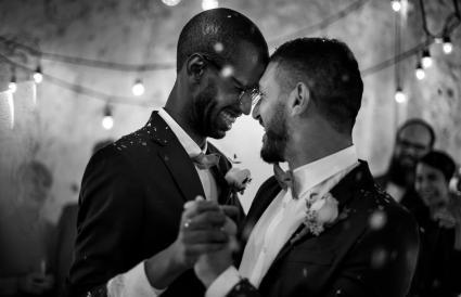 Baile de pareja de novios