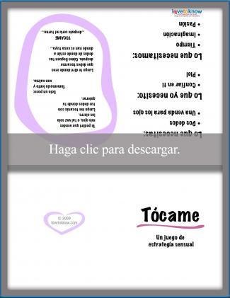 Carta romántica - Tócame