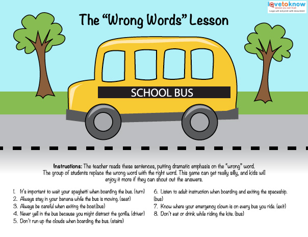 Bus Safety Printables LoveToKnow