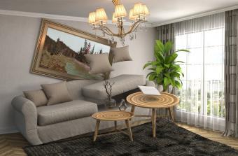 living room earthquake