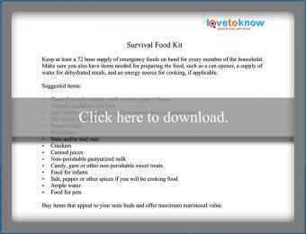 Survival Food Kits