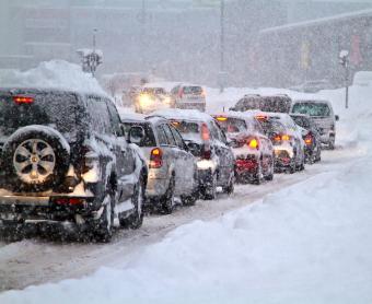 snowy roadway