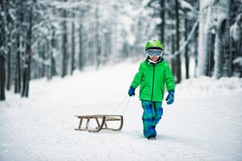 boy and his sled