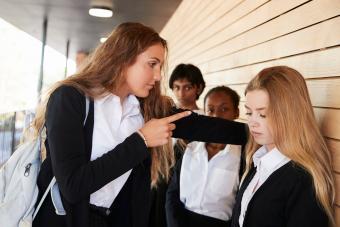 Teenage Girl Being Bullied At School
