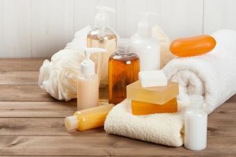Liquid soaps and bars of soap