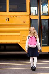 girl and bus