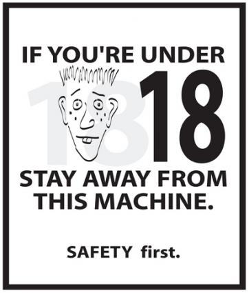 Poster with a safety slogan