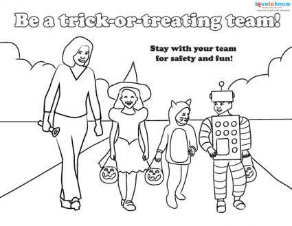 Halloween Safety Coloring Sheet