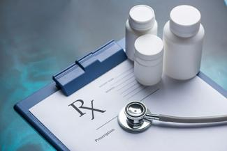 RX prescription and stethoscope