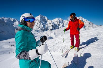 Alpine downhill skiers
