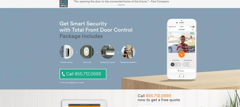 Screenshot of Vivint Smart Home