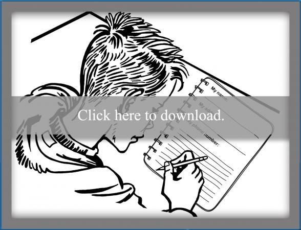 Personal Information Coloring Page