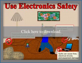 Use Electronics Safely Poster