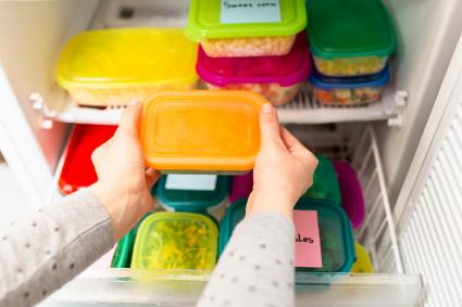 storing leftovers in a refrigerator