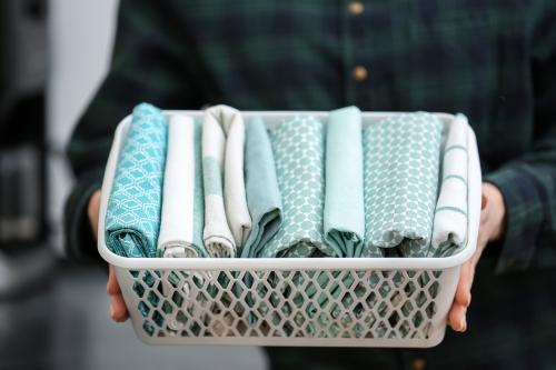basket of family cloths