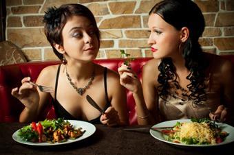 Girlfriends having dinner
