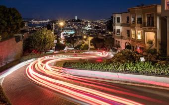 Lombard Street night trail