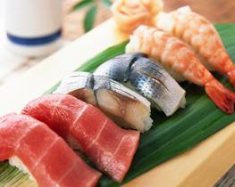 Image of sushi served at a Japanese restaurant