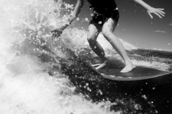 Surfing in San Fran
