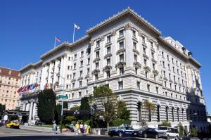 The luxurious Fairmont Hotel in San Francisco