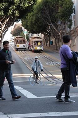 Bicyclist in San Francisco