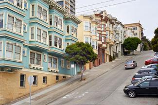 Driving up San Francisco hill