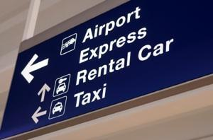 Airport transportation sign