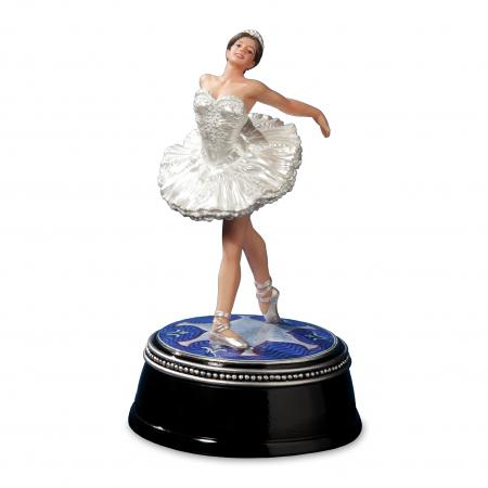 Ballerina figurine in white dress