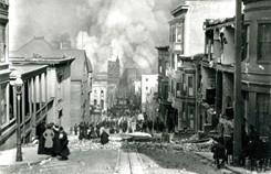 Aftermath photo of the 1906 San Francisco earthquake