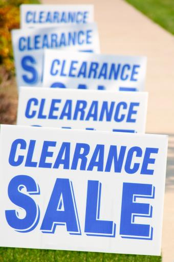 Watch for Clearance Sales