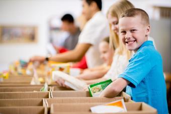 Kids at Food Bank