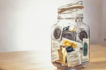 jar of free condoms