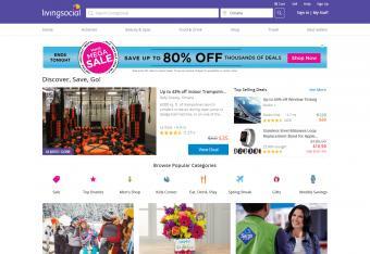 Screenshot of LivingSocial website
