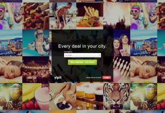 Screenshot of Yipit website