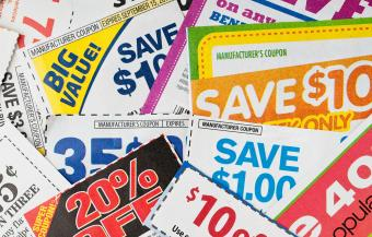 Stack of money saving coupons