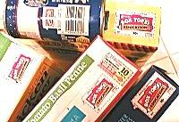 Collection of General Mills box tops