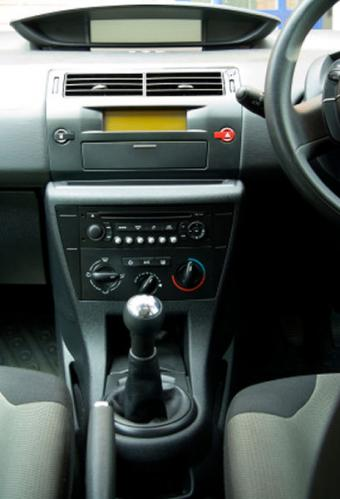 Image of a car stereo in a dashboard