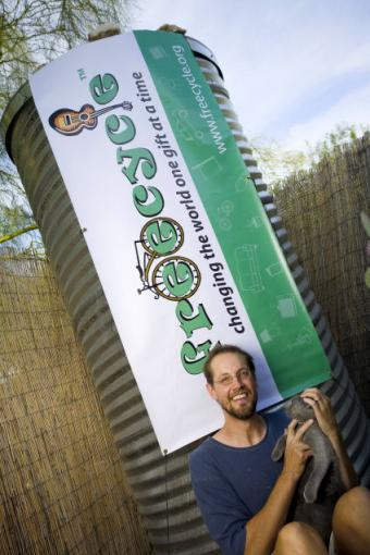 Deron Beal and the Freecycle logo banner