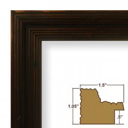 Black walnut poster frame from Amazon.com