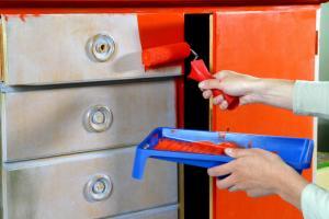 Repainting a thrift store dresser