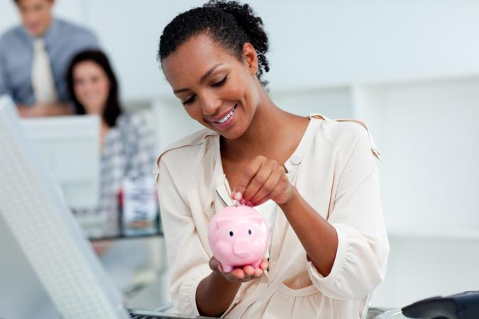 woman with piggybank